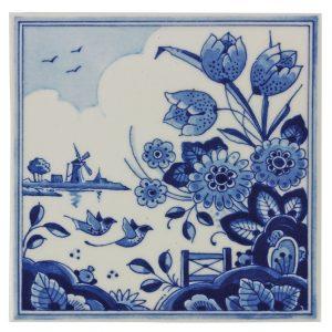 "Delft Blue tile ""tulip"""