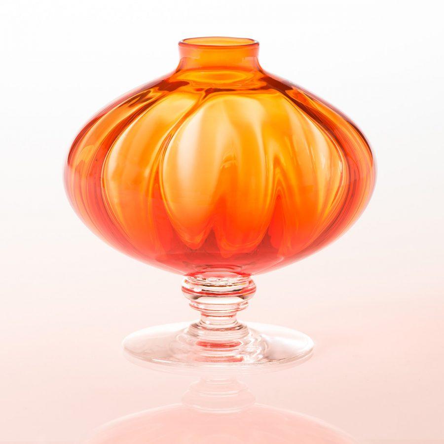 """Orange Vase """"Copper"""""""