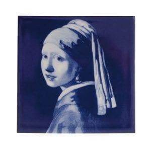 "Delft Blue tile ""meisje met de parel"""